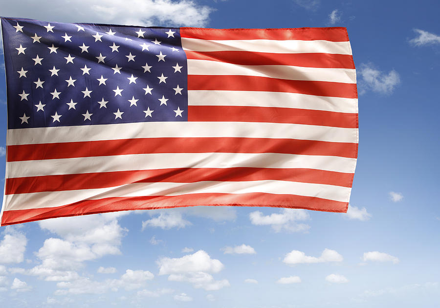 Independence Day Photograph - American Flag by Les Cunliffe
