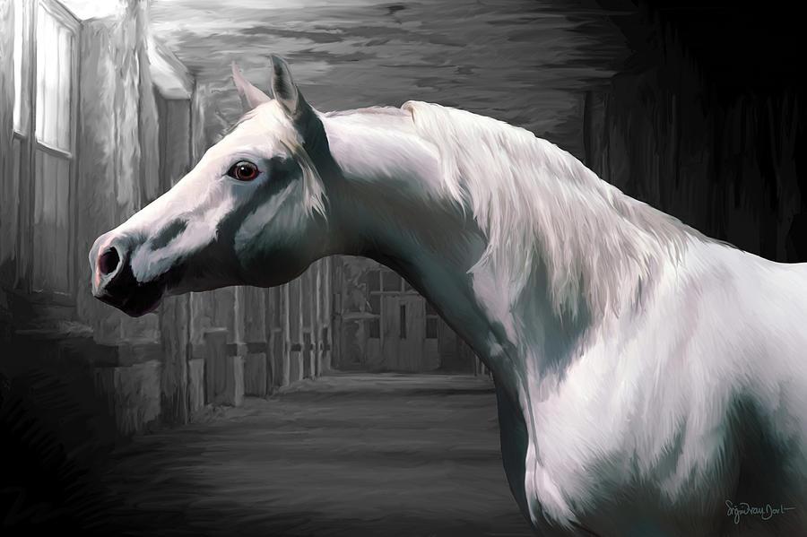 Horse Digital Art - 43. Soft Arab by Sigrid Van Dort