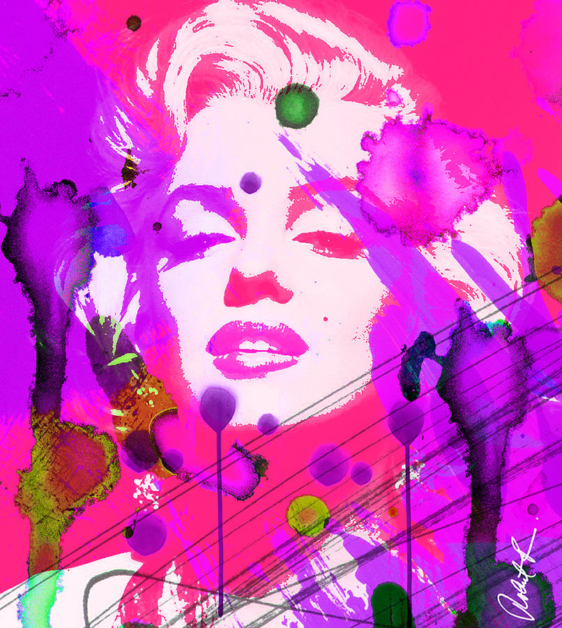 43x48 marilyn pretty in pink huge signed art abstract for Pretty abstract paintings