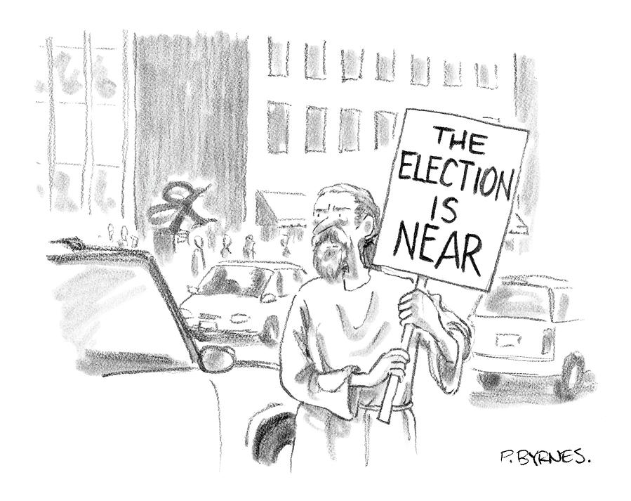 New Yorker November 1st, 2004 Drawing by Pat Byrnes