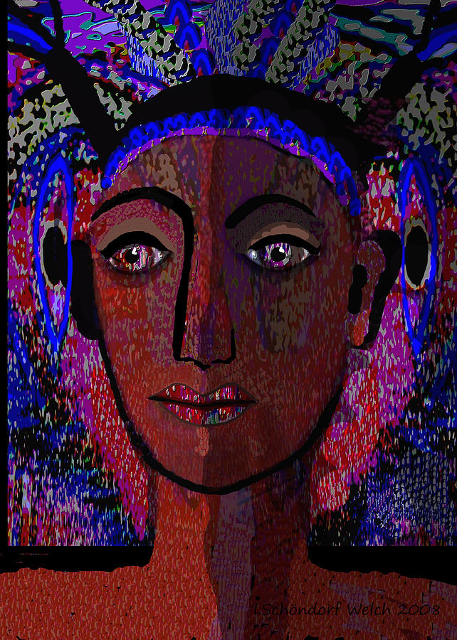 447 Painting - 447 - Dark Lady by Irmgard Schoendorf Welch