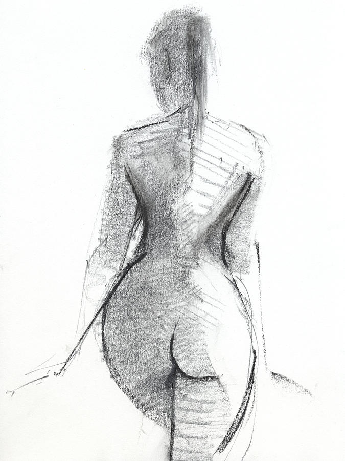 Black And White Drawing - Untitled 483 by Chris N Rohrbach