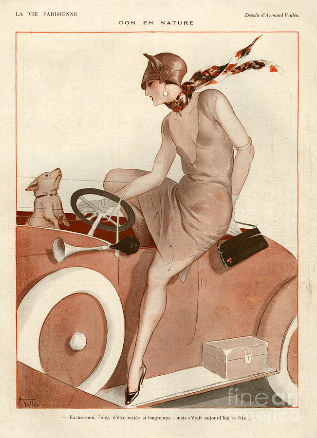 France Drawing - 1920s France La Vie Parisienne Magazine 453 by The Advertising Archives