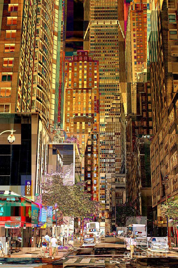 Metlife Building Photograph - 45th Street Redux by Miriam Danar