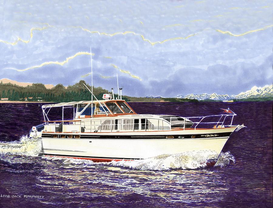 46 Foot 1965 Classic Chris Craft Terific Painting