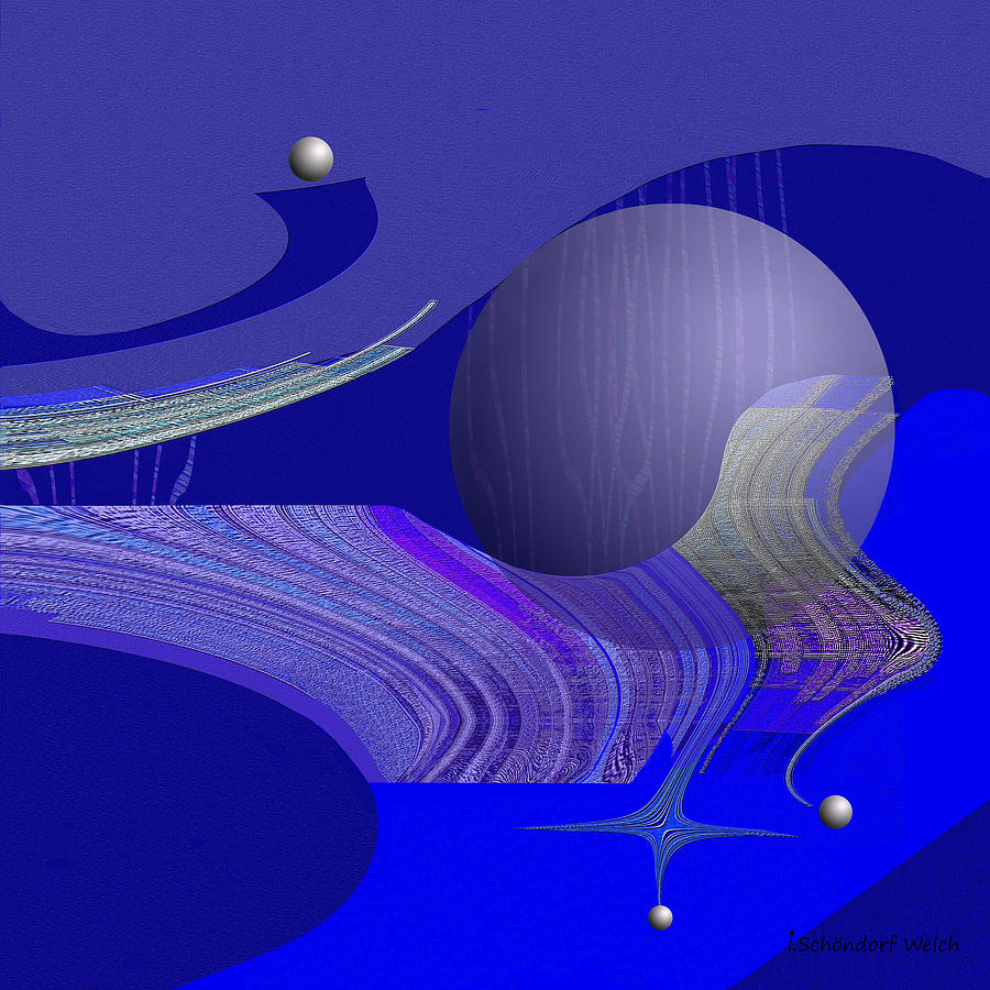Abstract Digital Art - 463 - City Of Future 4   by Irmgard Schoendorf Welch