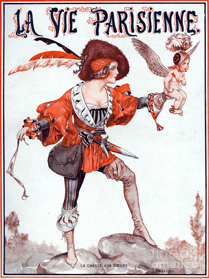 France Drawing - 1920s France La Vie Parisienne Magazine by The Advertising Archives