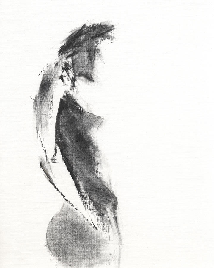 Black And White Painting - Untitled 47 by Chris N Rohrbach