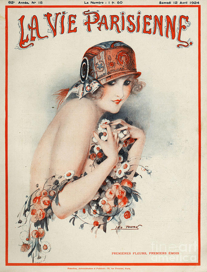 Covers Drawing - La Vie Parisienne  1924 1920s France by The Advertising Archives