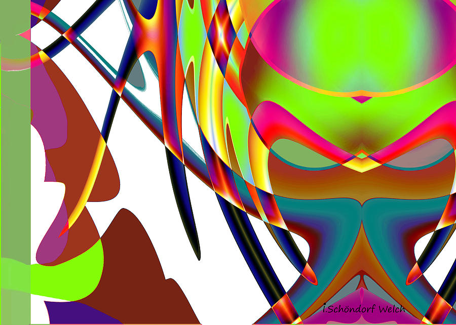 470 Digital Art - 470 - Colourful Abstract by Irmgard Schoendorf Welch