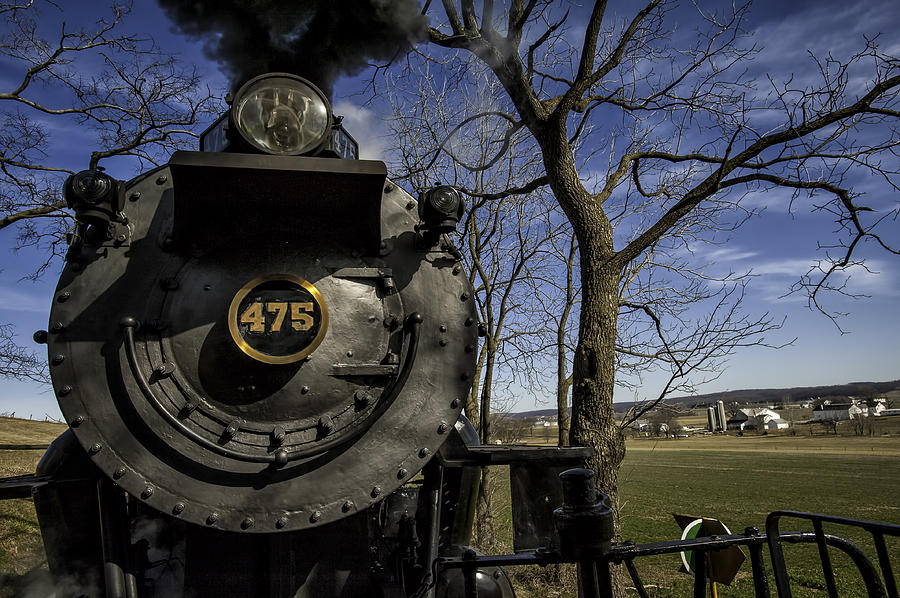 Strasburg Rr Photograph - #475 Steam Engine On The Strasburg Rr 04 by Mark Serfass