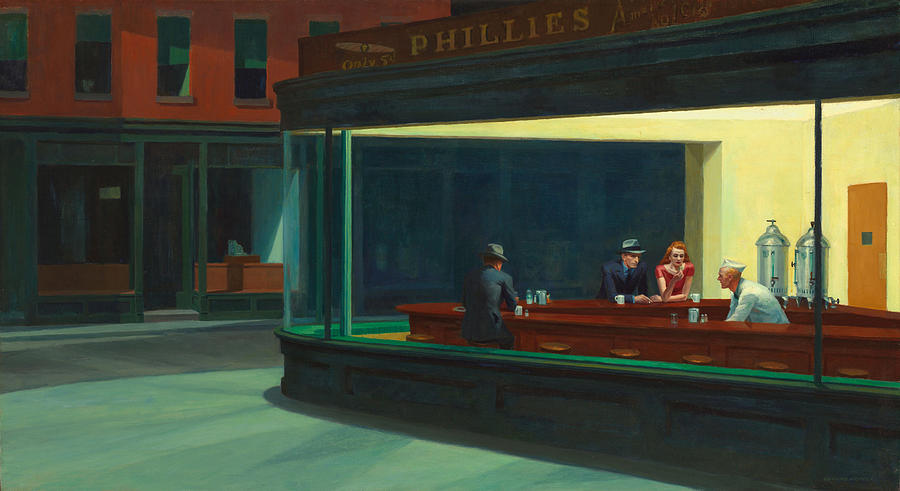 Painting Painting - Nighthawks by Edward Hopper