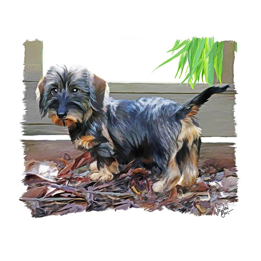 Dog Digital Art - 49. Pup by Sigrid Van Dort