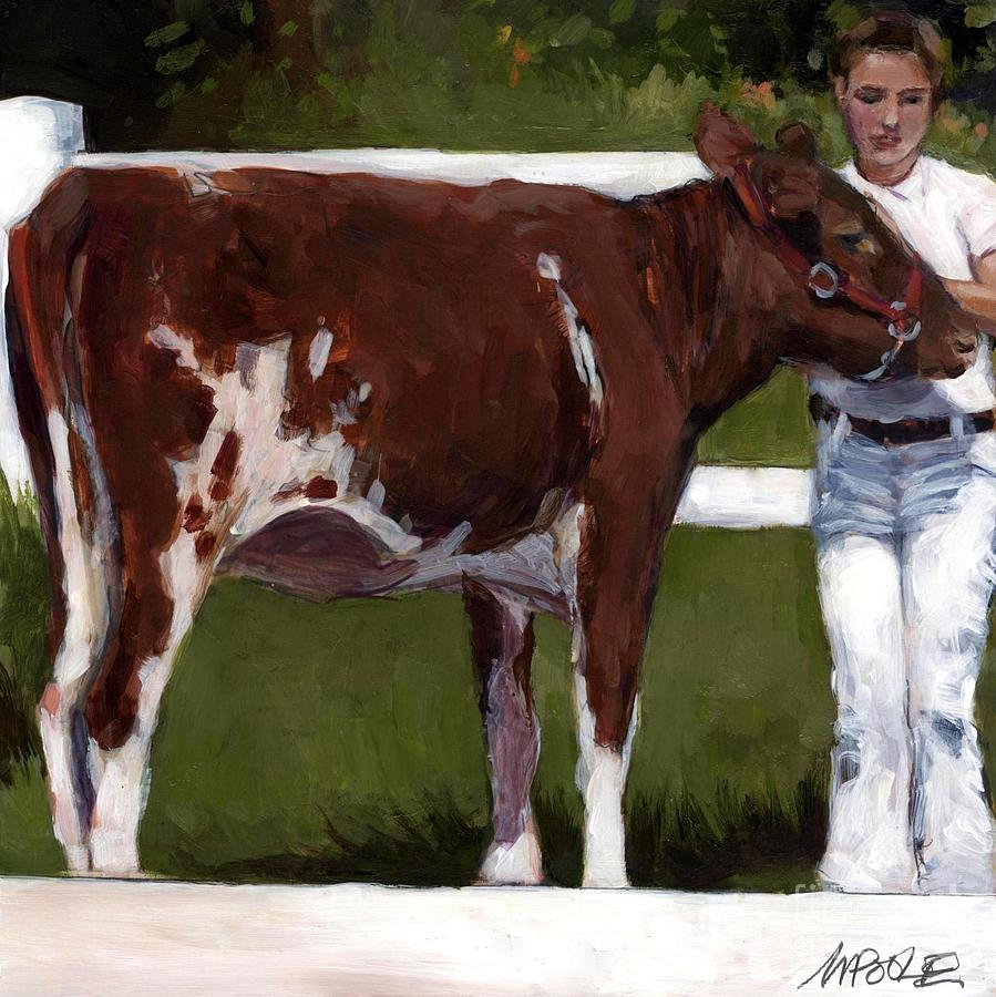 Cow Painting - 4H by Molly Poole