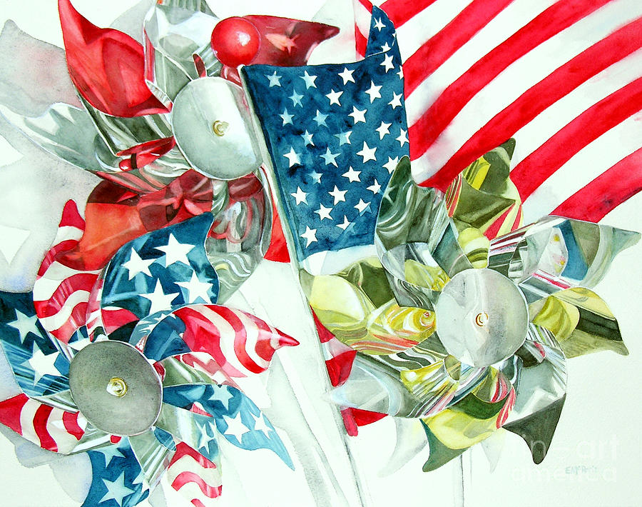 America Painting - 4th Of July by Elizabeth  McRorie