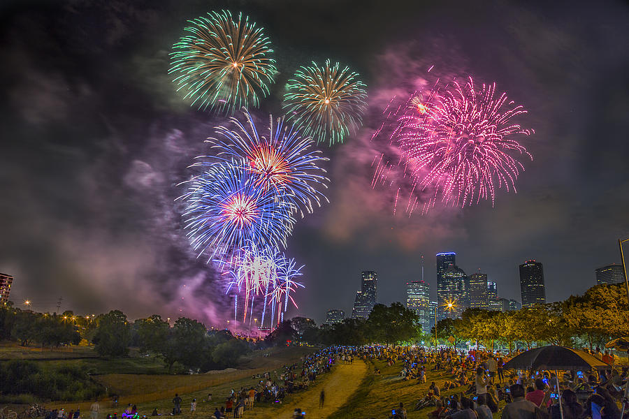 4th Photograph - 4th Of July In Houston Texas by Micah Goff