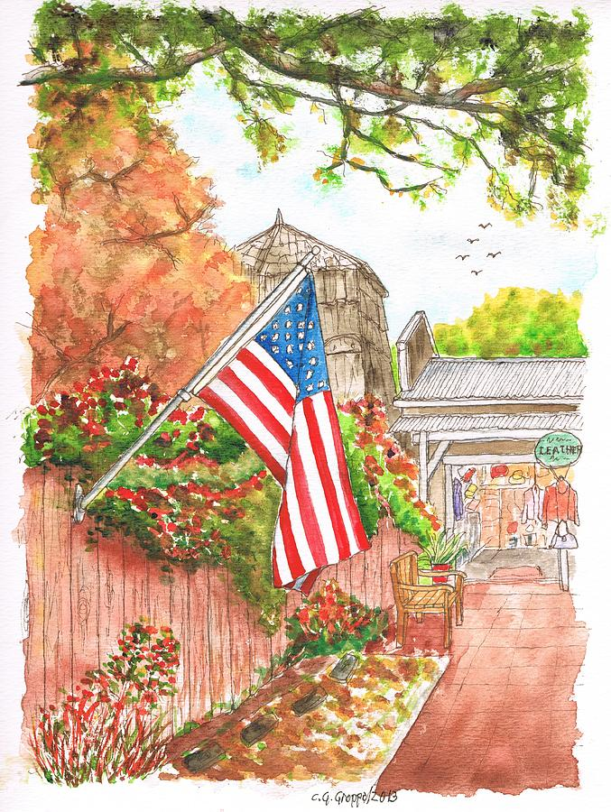 Flag Painting - 4th Of July In Los Olivos, California by Carlos G Groppa