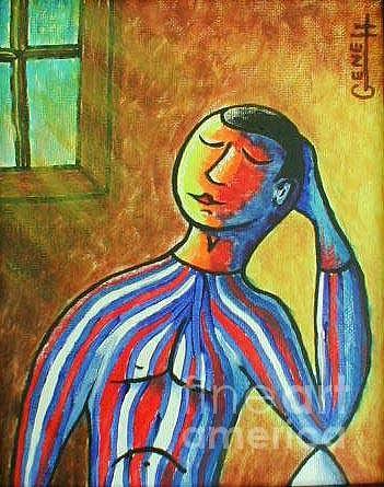 Portrait Painting - 4th. Of July Joe by Gene Huebner