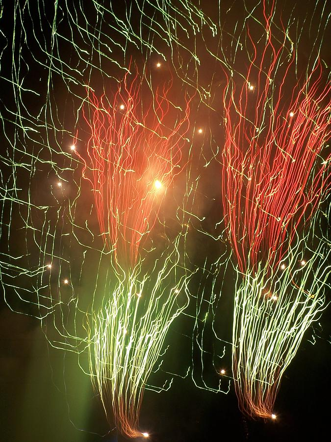 Fireworks Mixed Media - 4th Of July by Tammy McDougall
