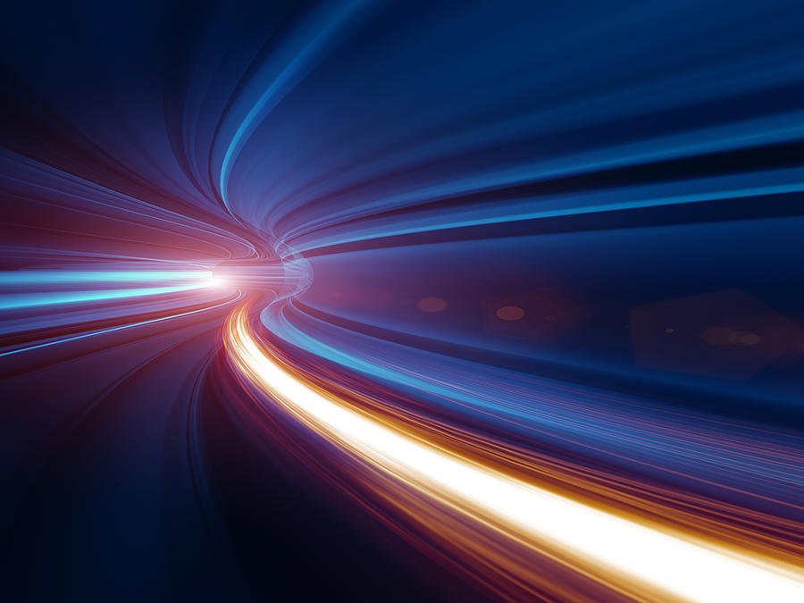 Abstract Speed motion in tunnel Photograph by Nadla