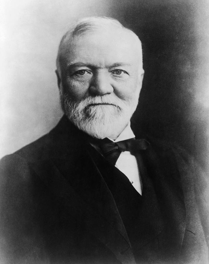 1896 Photograph - Andrew Carnegie (1835-1919) by Granger