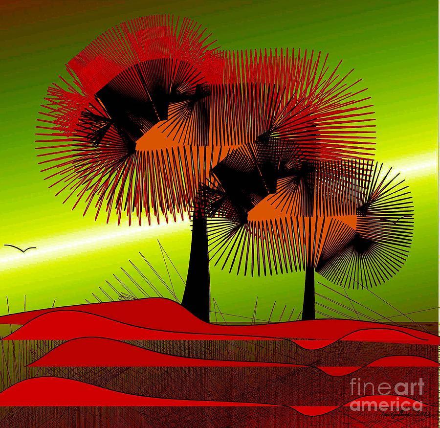 Abstract Digital Art - Autumn Colours by Iris Gelbart