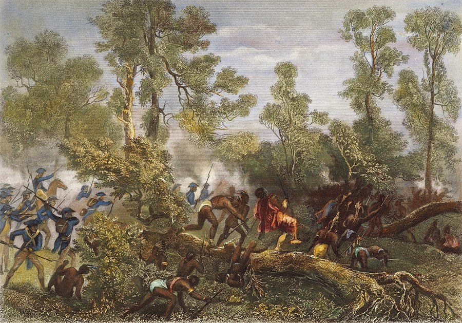 Battle Of Fallen Timbers Painting by Granger