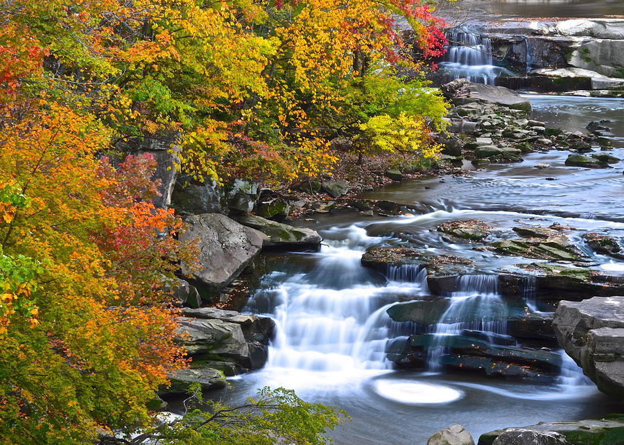 Berea Photograph - Berea Falls by Frozen in Time Fine Art Photography