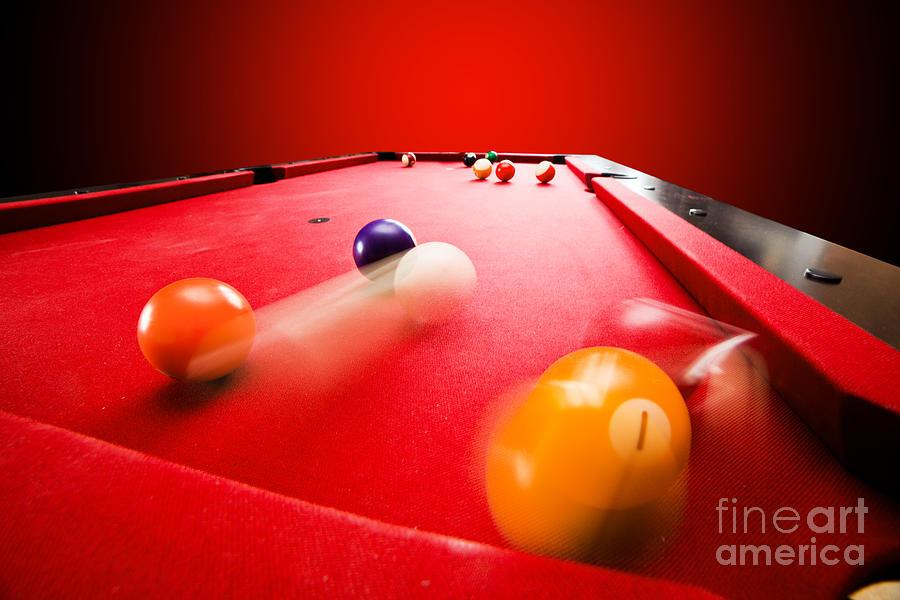 Pool Photograph - Billards Pool Game by Michal Bednarek