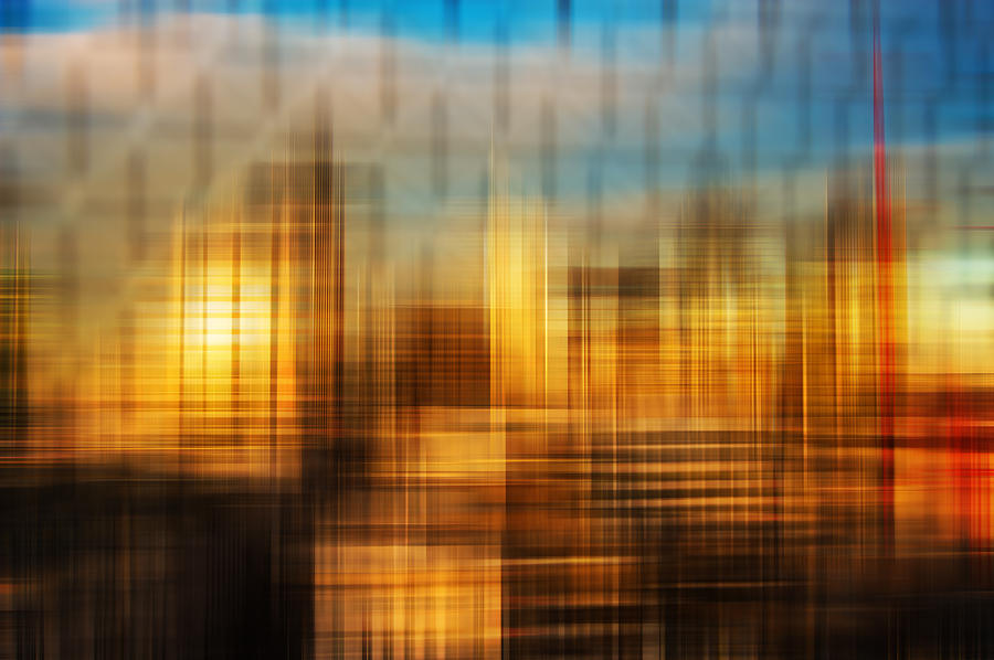 Abstract Photograph - Blurred Abstract Colorful Background by Matthew Gibson