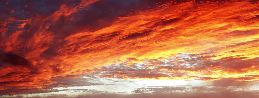 Clouds Photograph - Bright Sky by Les Cunliffe