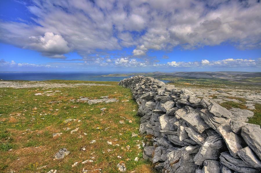 Ballyvaughan Photograph - Burren Stone Wall by John Quinn