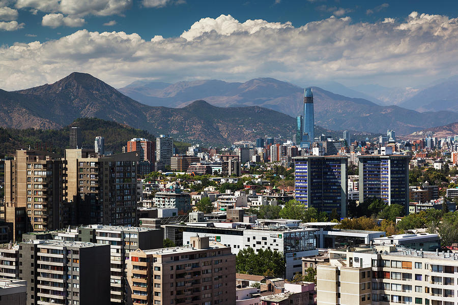 Chile, Santiago, City View Photograph by Walter Bibikow