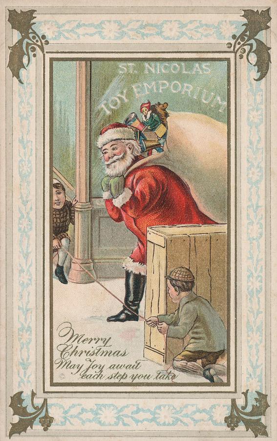 Kids Painting - Christmas Card by American School