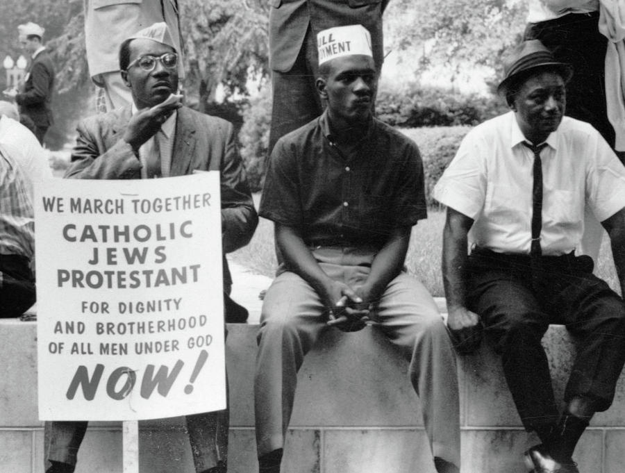 1965 Photograph - Civil Rights March, 1965 by Granger