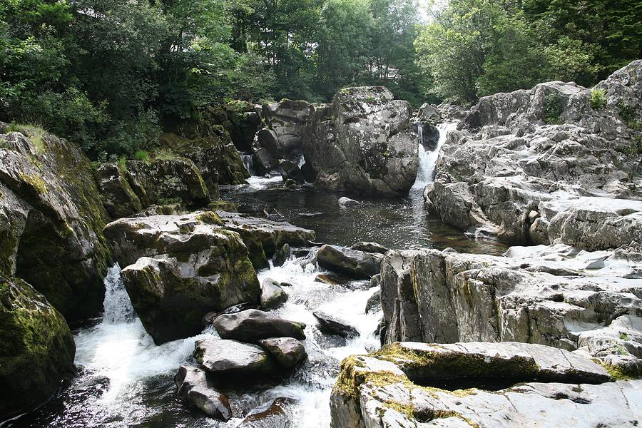 Rivers Photograph - Conwy River Near Betws Y Coed.  by Christopher Rowlands