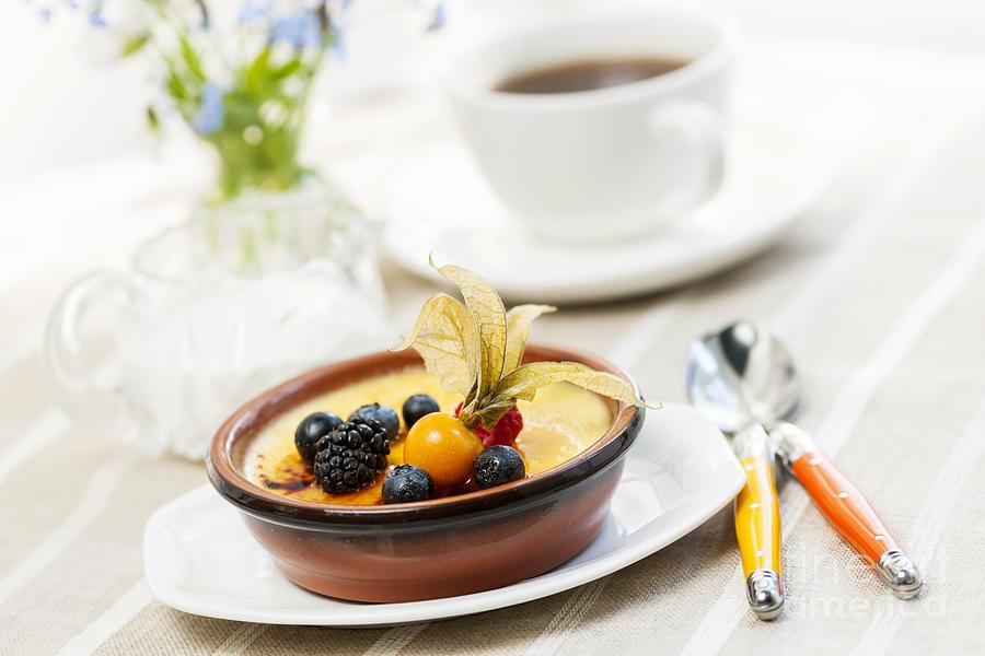 Creme Brulee Photograph - Creme Brulee Dessert by Elena Elisseeva