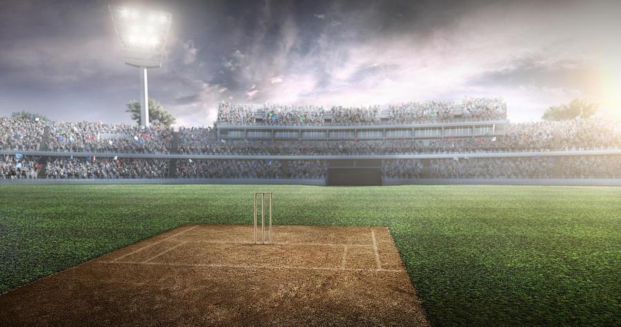 Cricket: Cricket Stadium Photograph by Aksonov