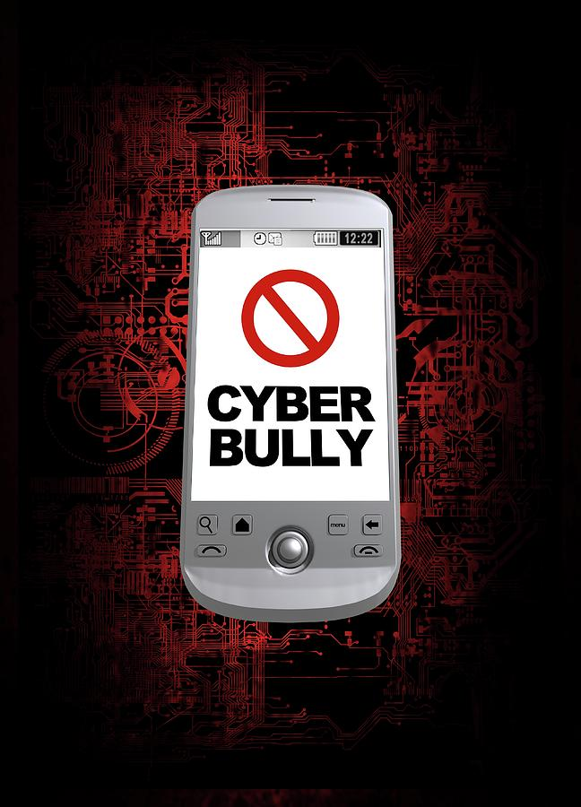 Artwork Photograph - Cyber Bullying by Victor Habbick Visions/science Photo Library