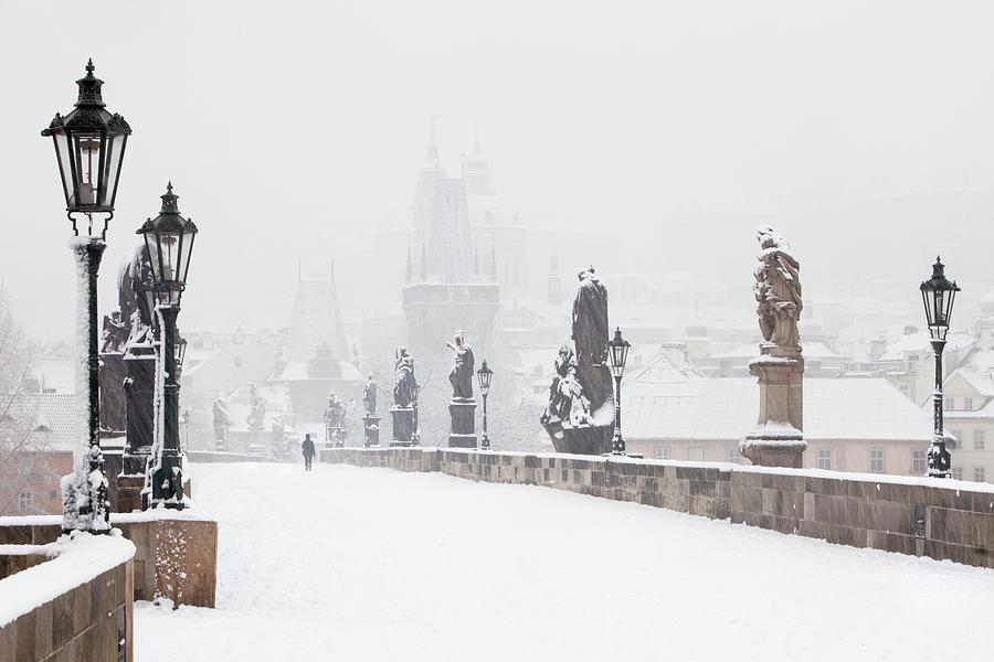 Color Image Photograph - Czech Republic, Prague - Charles Bridge by Panoramic Images