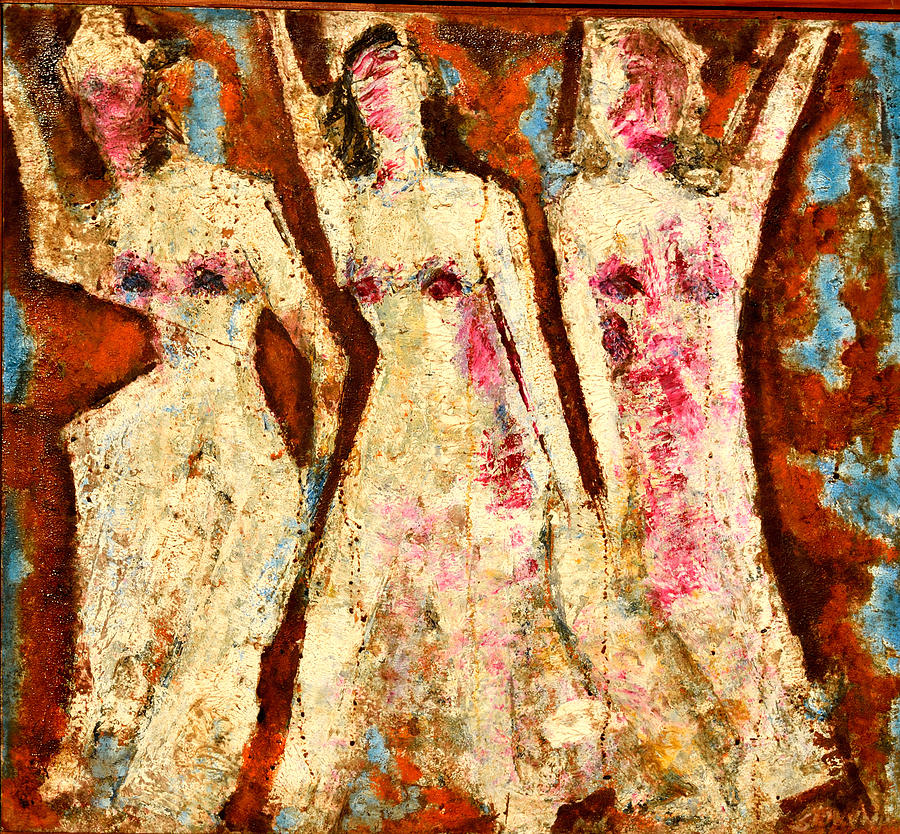 Oil Paintings Painting - Dance Dance And Dance by Anand Swaroop Manchiraju