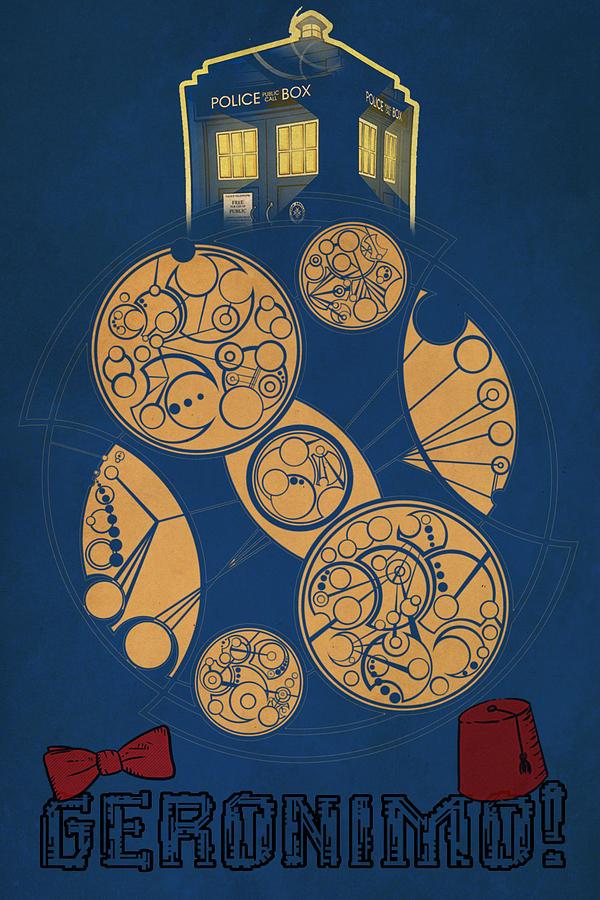 Tardis Digital Art - Doctor Who by FHT Designs