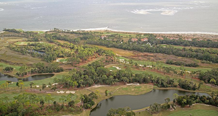 Jekyll Photograph - East Coast Aerial Near Jekyll Island by Betsy Knapp
