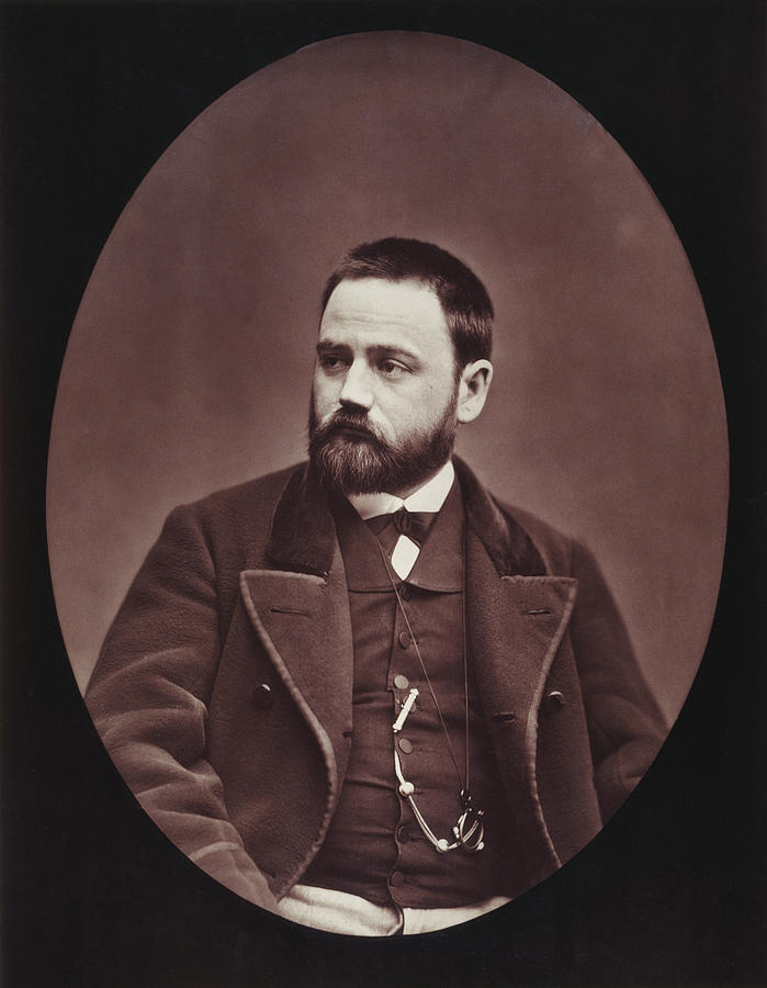 19th Century Photograph - Emile Zola (1840-1902) by Granger
