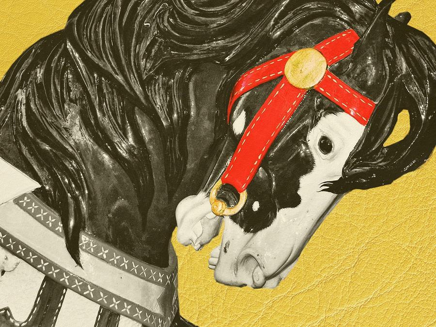 Carousel Photograph - Fiery Stallion by JAMART Photography