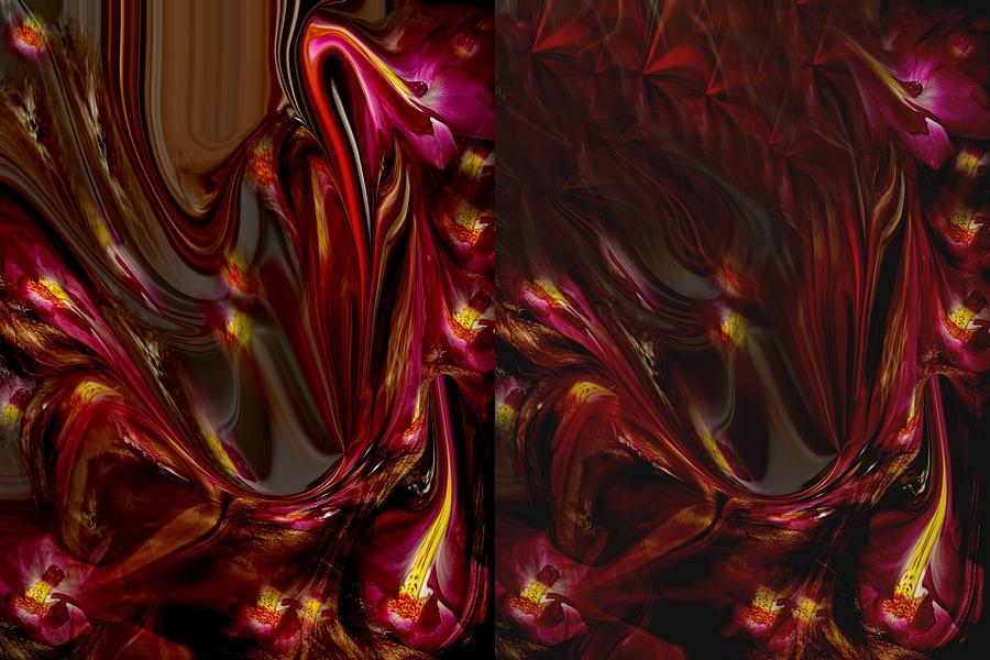 Etc. Digital Art - Flowers by HollyWood Creation By linda zanini