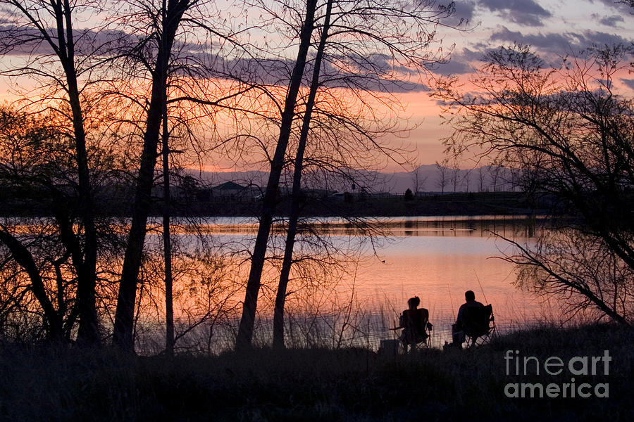 Colorado Photograph - Fly Fishing At Sunset by Steve Krull