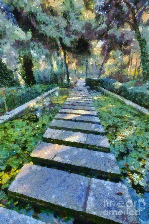 Footpath Painting by George Atsametakis