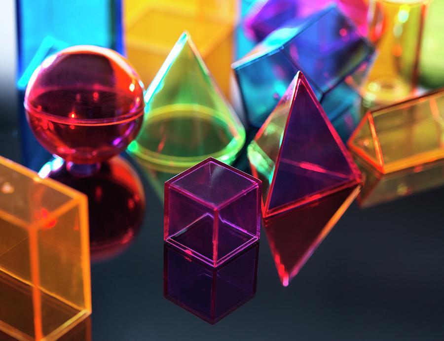 Assortment Photograph - Geometric Shapes by Tek Image
