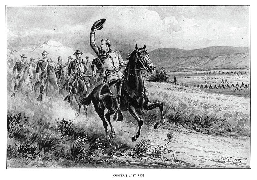 1870s Painting - George Armstrong Custer (1839-1876) by Granger